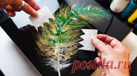 Как нарисовать красивое перо с помощью туалетной бумаги От такой красивой картины невозможно оторвать взгляд! Хочется бесконечно рассматривать смешения цветов и оттенков, мягкие переходы и сочетания. И всё это возможно нарисовать обыкновенному человеку, ко...