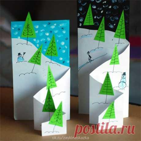ОБЪЁМНЫЕ НОВОГОДНИЕ ОТКРЫТКИ    Скоро в гости к нам придёт Развесёлый Новый год. И подарков целый воз Приготовит Дед Мороз!  Приходите к нам, зверушки, Приносите нам игрушки, Будем ёлку наряжать, Будем праздник приближать! • • • Белкины поделки: ok.ru/podelkabelka