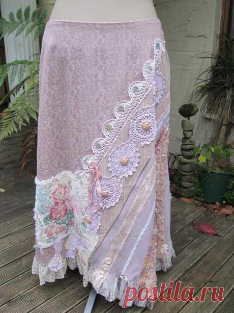 SALE.... Vintage Kitty... dusky pinks mauve.. upcycled | Etsy