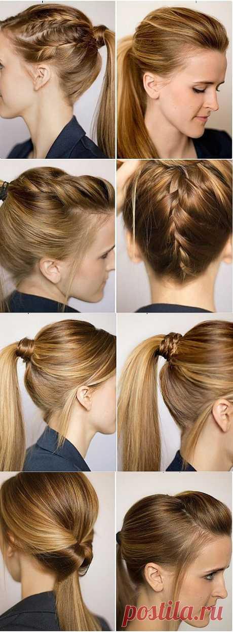 Гибриды хвоста с косами / Прически / Модный сайт о стильной переделке одежды и интерьера