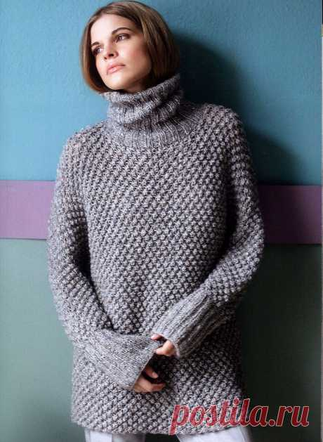 Длинный свитер-кимоно
