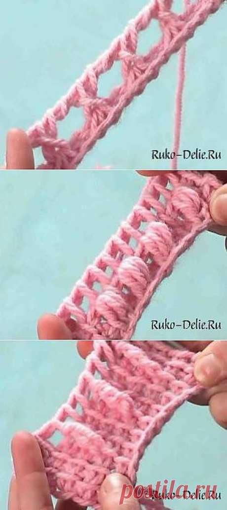 Основные петли в тунисском вязании крючком.