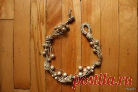 оригинальное ожерелье | Плетение бисером