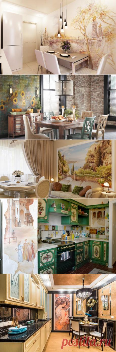 Декорирование кухни фреской | Роскошь и уют