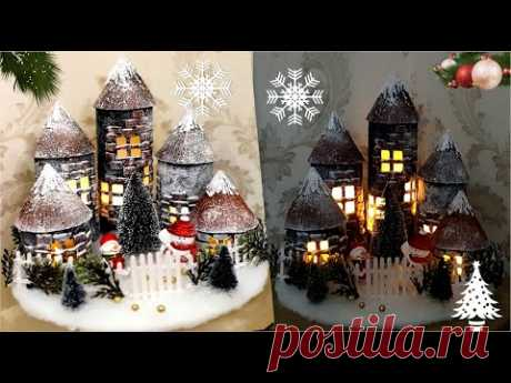 Awesome Christmas Idea With Pringles Tubes/New Year Decoration/Christmas crafts