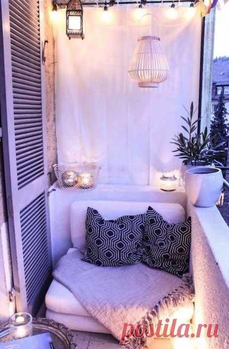 Идеи для маленьких балконов — Сделай сам, идеи для творчества - DIY Ideas