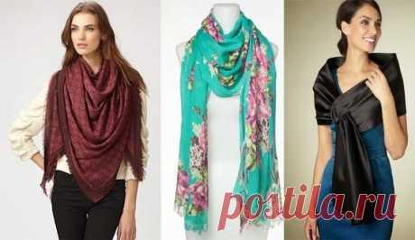 Как красиво завязать шарф или платок? Множество вариантов!