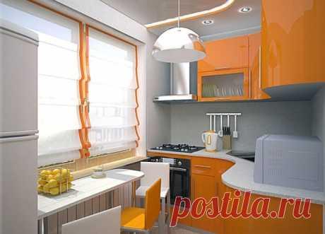 Дизайн после ремонта кухни 6 кв. м в хрущевке: фото реального помещения