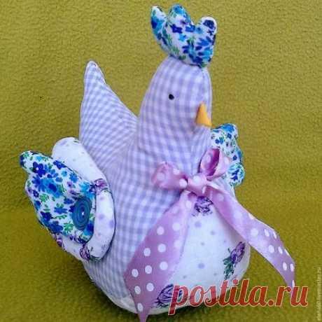 Купить текстильная курочка - текстильная игрушка, текстиль для дома, текстиль, текстиль для интерьера, ручная работа