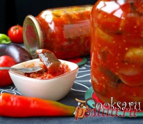 Letcho with eggplants for winter of a photo the recipe of preparation