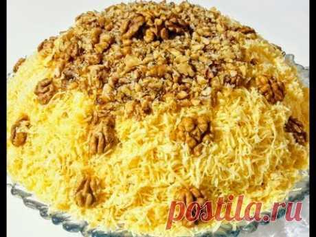 Праздничный Салат с Курицей и Ананасами Супер Вкусный Мясной Слоеный Салат на Праздничный Стол
