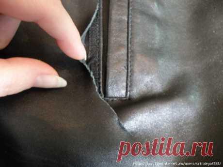 Как починить дырку на коже Полезные советы по ремонту кожаных изделий.    Источник