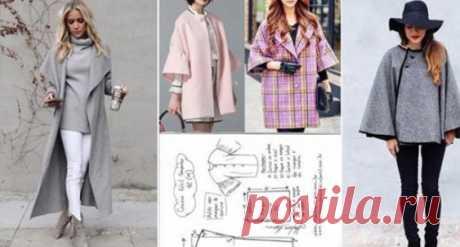 20 стильных пальто и пончо с выкройками: чтобы всегда быть в тренде… «Выглядеть элегантно в любое время года? Реально ли это?» - спрашиваем мы себя. В этом помогут стильные пальто, пончо — легкие, красивые, удобные. Есть не только длинные модели,но и укороченные, с совершенно разными вариантами рукавов...