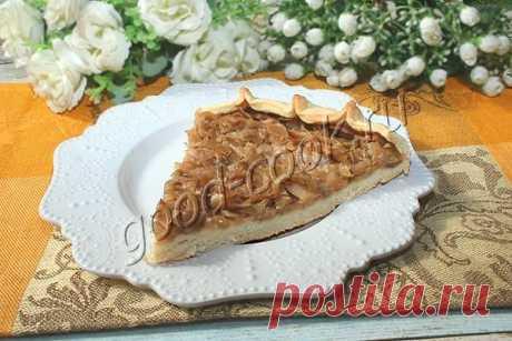 Постный открытый пирог с капустой. Рецепт приготовления