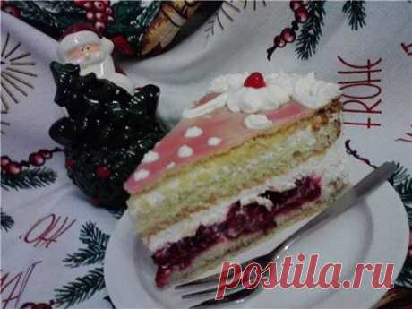 Торт сливочно-вишневый - Хлебопечка.ру
