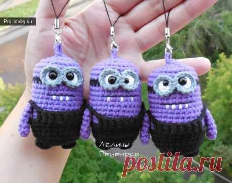 Маленькие миньоны / Вязание игрушек / ProHobby.su | Вязание игрушек спицами и крючком для начинающих, мастер классы, схемы вязания