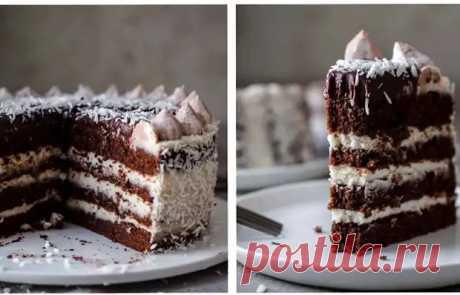 Вкуснейший шоколадно-кокосовый торт - Вкусные рецепты - медиаплатформа МирТесен
