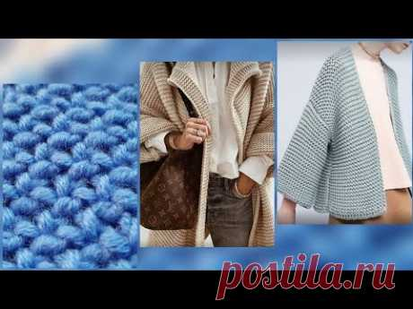 """Не пропустите новый узор """"Снежинки"""" для ваших кардиганов 🚩 knitting pattern. - YouTube"""