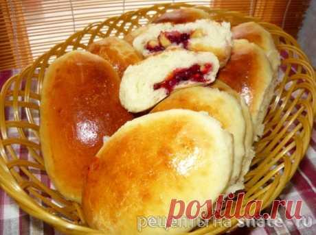 Печеные пирожки с яблоком и брусникой – Кулинарный сайт Шате