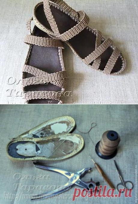 """Мастер-класс: """"Вязаные сандалии, или Обувь из ничего"""""""