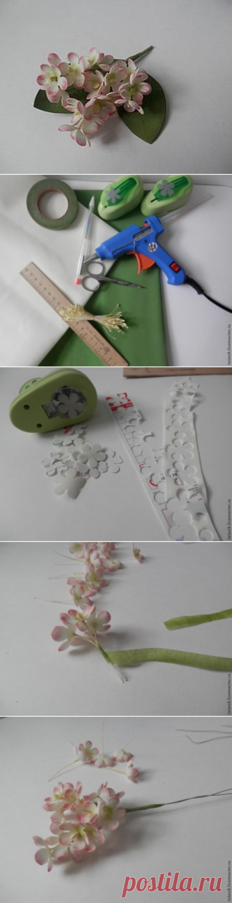 Создаем миниатюрные цветы из фоамирана - Ярмарка Мастеров - ручная работа, handmade