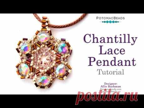 Chantilly Lace Pendant - DIY Jewelry Making Tutorial by PotomacBeads