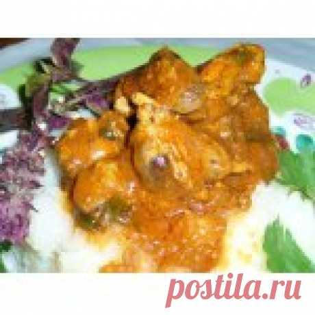 Куриные потрошки по-грузински Кулинарный рецепт