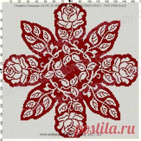 Подборка филейных салфеток со схемами вязания. (20+) Facebook