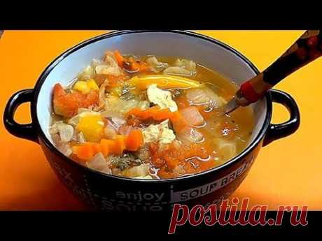 You eat much and grow thin. Tasty and nourishing soup. Dietary recipe.