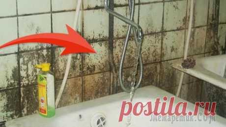 Лучший способ от плесени и грибка в ванной комнате Одна из главных проблем в ванной комнате это грибок, плесень, налет, как удалить его, должна знать каждая хозяйка, ведь подобное явление не только портит внешний вид санузла, но и может быть опасным д...