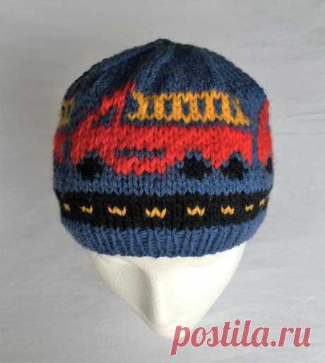 Bigger Boy Fire Trucks Fire Engine Hat Winter Hat Knitting | Etsy
