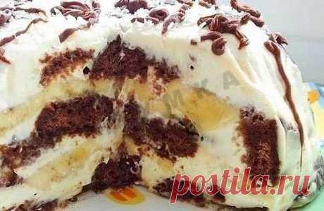 Торт из шоколадных пряников рецепт с фото