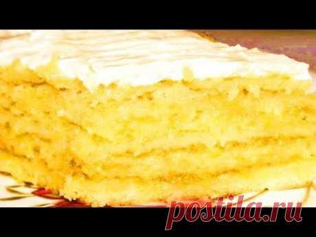 ЛИМОННЫЙ ТОРТ / Как приготовить Лимонный Торт по рецепту Ирины Аллегровой