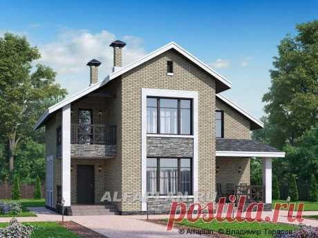 """🏠 """"Ижора"""" - небольшой классический дом с двускатной кровлей: цены, планировка, фото. Купить готовый проект"""