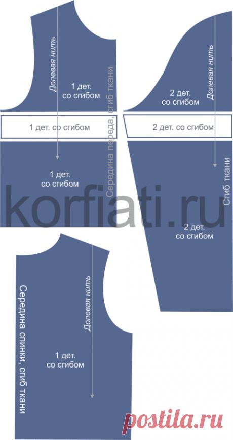 Выкройка женского свитшота от Анастасии Корфиати