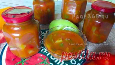 Лечо из помидор и перца на зиму - рецепт Лечо из перца и помидор на зиму приготовленное по самому простому и лучшему рецепту. Получается невероятно вкусным. Способ варки без стерилизации с небольшим количества уксуса, можно и без уксуса.