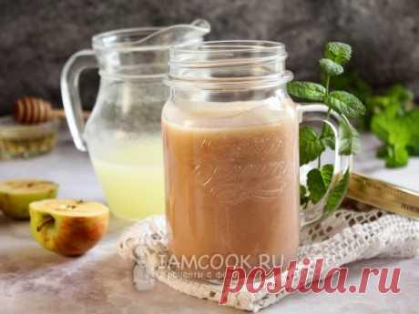 Напиток из молочной сыворотки с яблоками — рецепт с фото Вкусный и легкий коктейль на кисломолочной основе.