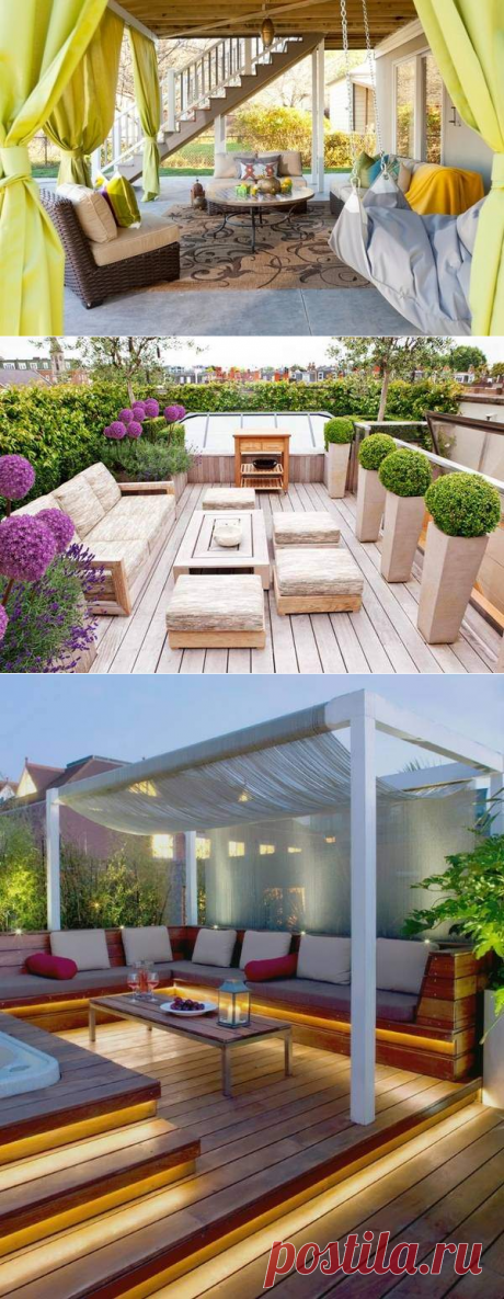 Террасы и веранды к дому для вашего отдыха на 30 фото — Дом и Сад