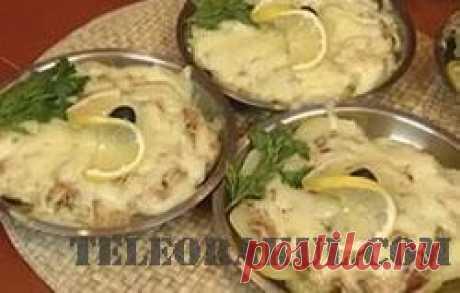 Осетрина с моцареллой и белыми грибами По-московски (рецепты: Званый ужин) - рецепты с фото