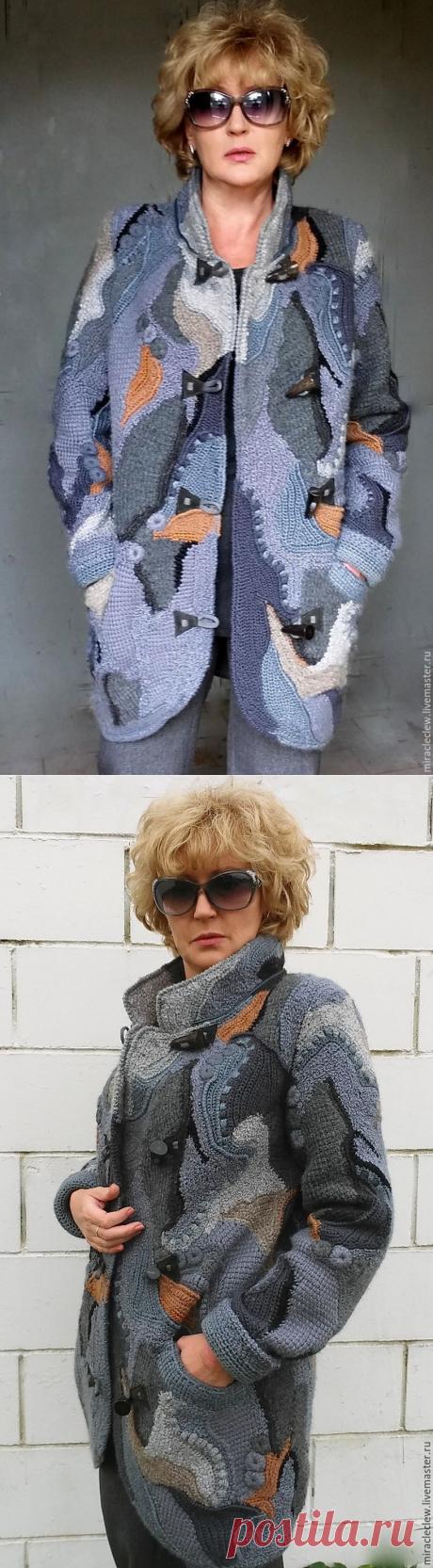 Вязаное крючком пальто/кардиган в стиле фриформ, пэчворк, бохо – купить в интернет-магазине на Ярмарке Мастеров с доставкой - A4CZLRU | Москва