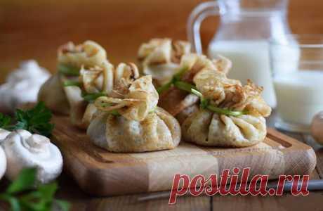 Гречневые мешочки с грибами — Кулинарная книга - рецепты с фото