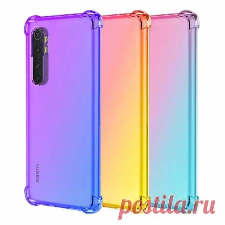Bakeey Gradient Color with Four-Corner Airbag Shockproof Translucent Soft TPU Pr - US$6.49