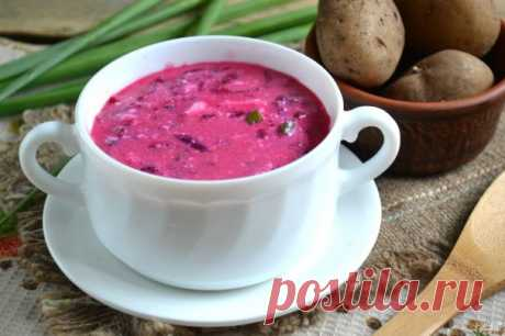 Borsch on kefir - the step-by-step recipe from a photo on Повар.ру