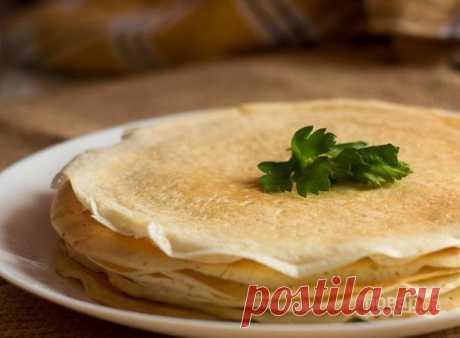 Блины тонкие на дрожжах - пошаговый рецепт с фото на Повар.ру