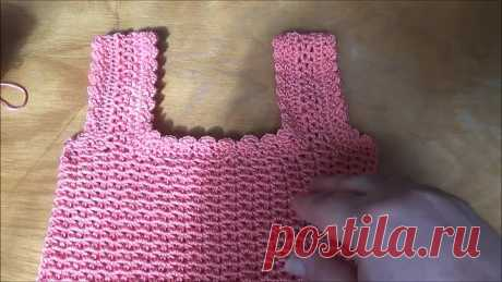 Как связать крючком простой лиф для платья или топа