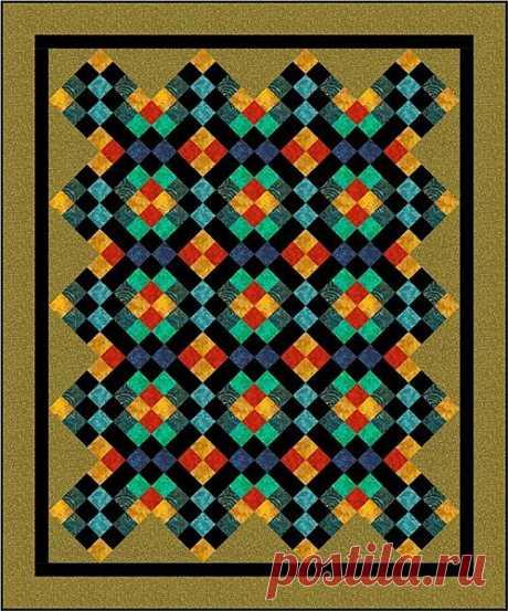 Лоскутное одеяло *Мозаика*. Схема.