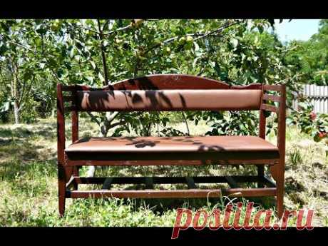 How to make a garden bench of old chairs. Video of MK.
