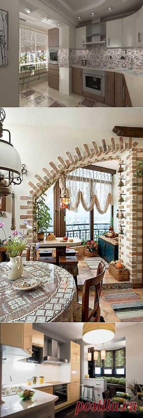 Дизайн кухни с балконом: как задействовать балкон