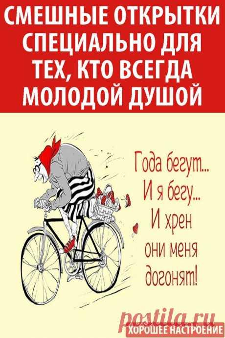 Смешные открытки специально для тех, кто всегда молодой душой