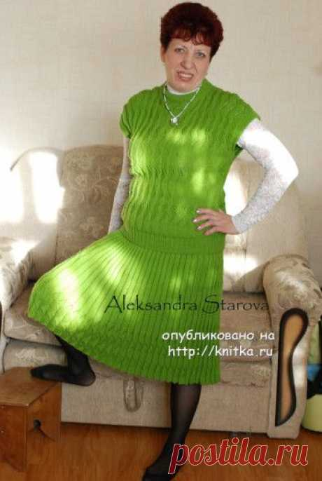 Женский костюм спицами – работа Александры, Вязание для женщин